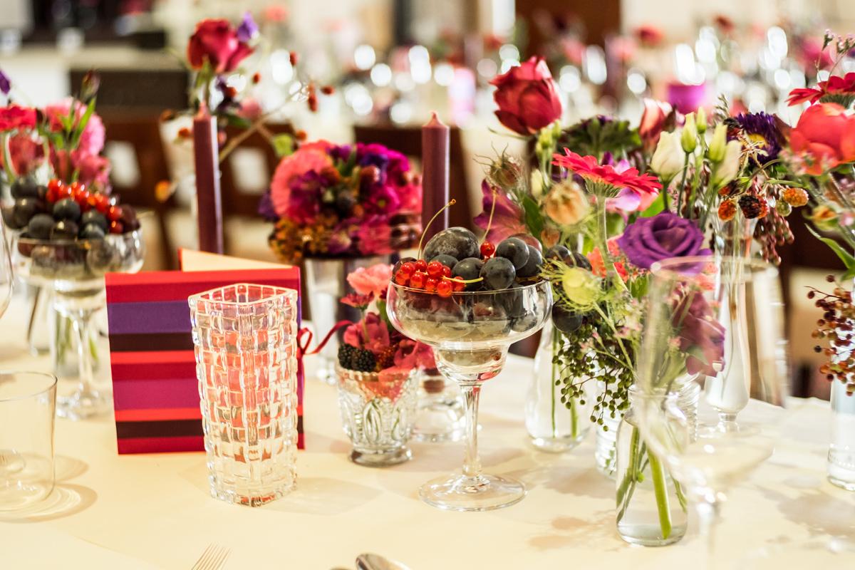 Hochzeit Beerenfarben Menü
