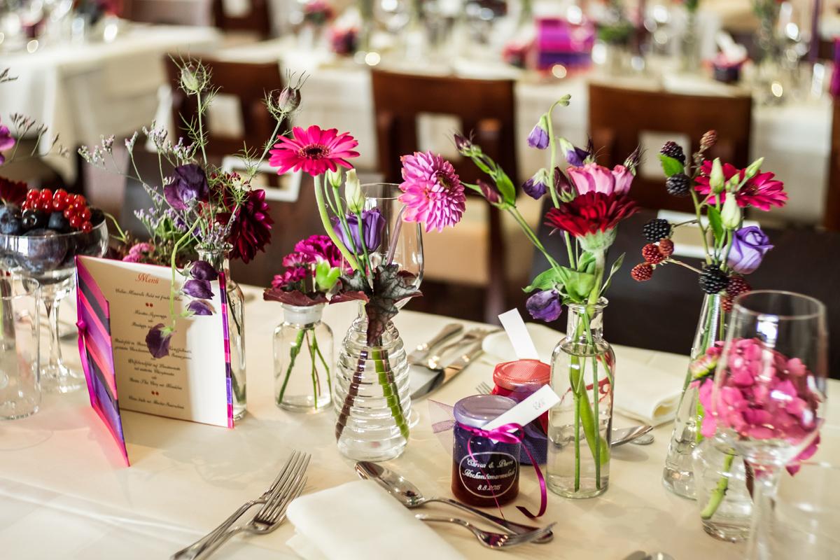 Hochzeit Beerenfarben Präsent