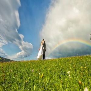 Hochzeit Regenbogen