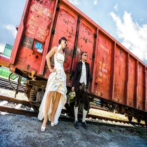 Hochzeit Waggon